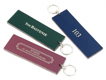 Bonded Leather Key Tags